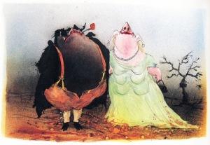 Desenho de Ralph Steadman/Edição 50 anos Animal Farm