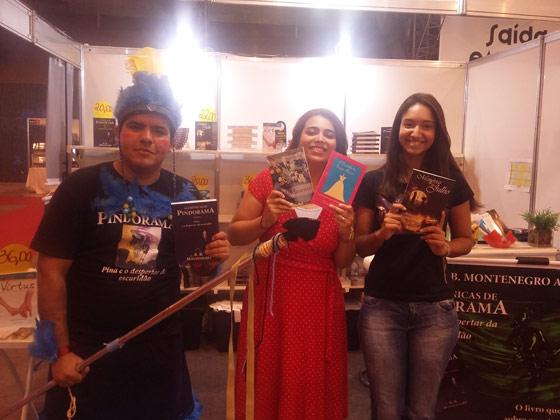Da esquerda para direita: Rafael Montenegro, Lívia Messias e Jéssica Figueiredo. Foto: Bárbara Valdez