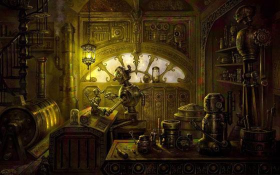 Como seria a oficina em que Jack passa grande parte do tempo em Londinium. Foto: Wallpaper Up