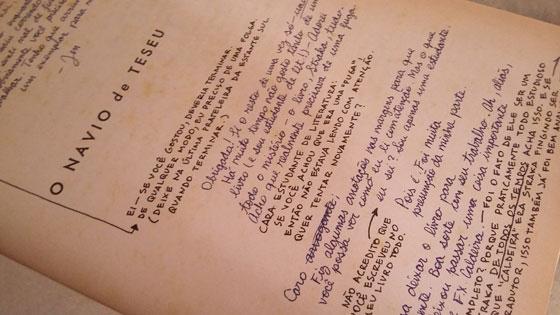 Notas manuscritas feitas em S.